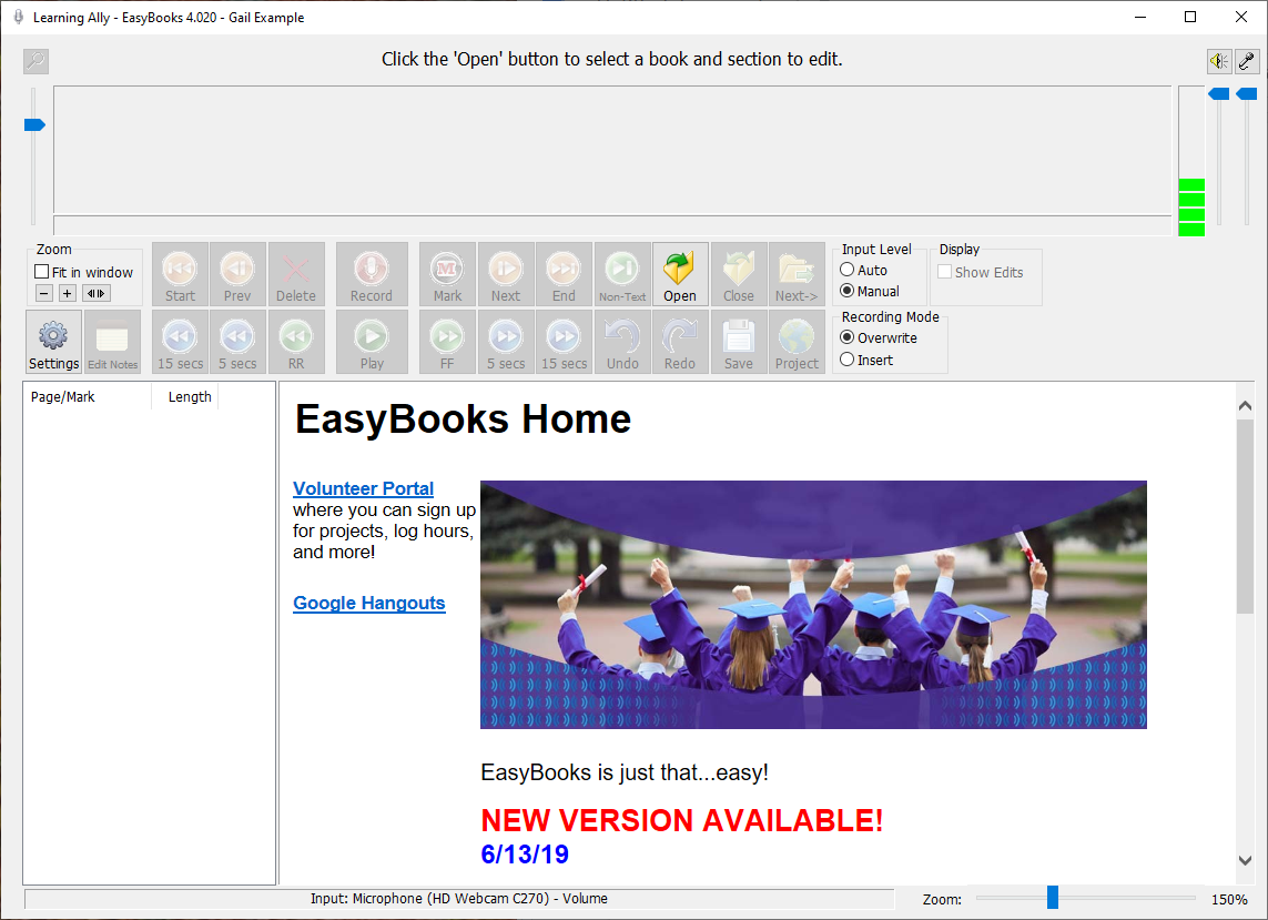 Screenshot of EasyBooks